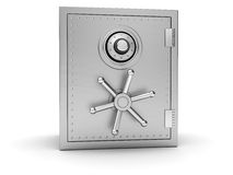 Big silver safe Royalty Free Stock Photo