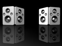 Big silver speakers Royalty Free Stock Images