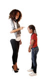 Big sister lecturing small one. Royalty Free Stock Image
