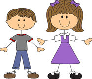 BIG SISTER LITTLE BROTHER Royalty Free Stock Images