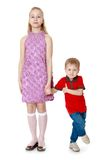 Big sister and little brother Royalty Free Stock Photography