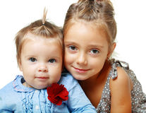 Big sister and little sister Royalty Free Stock Images