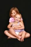 Big sister little sister Stock Photo