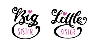 Free Big Sister Little Sister Kids Clothes Typography. Vector Illustration. Royalty Free Stock Images - 167439779