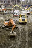 Big site. Very big site with machines Royalty Free Stock Image