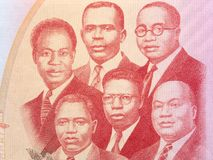 The Big Six portrait. From Ghanaian money stock photo