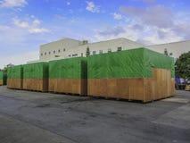Big size cargo box packing stock image