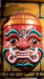 Big Size of Hua Khon, The Ancient Thai Traditional Show Mask Stock Photo