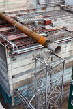 Big size pipeline under construction Stock Image