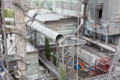 Big size pipeline under construction Stock Photos