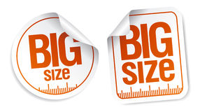 Big size stickers Royalty Free Stock Images