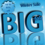 Blue Big winter Sale banner for business Royalty Free Stock Image