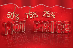 Red Sale banner for business Stock Photos