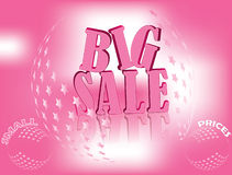Pink Big Sale banner for business Stock Images