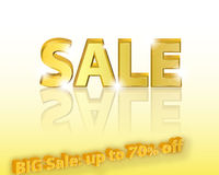 Yellow Sale banner for business Royalty Free Stock Images