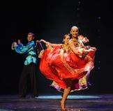 Big skirt-Gypsy Festival Dance-the Austria's world Dance Royalty Free Stock Photography