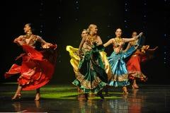 Big skirt-Gypsy Festival Dance-the Austria's world Dance Stock Image