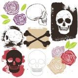 Big skull grunge set Stock Photo