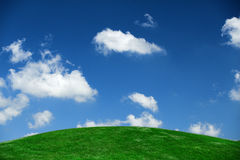 Big sky. Picture of a hill and sky in a local park Stock Photos