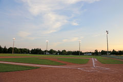 Big Sky Ball Field Royalty Free Stock Photo