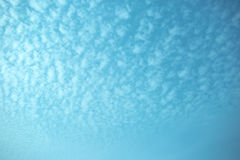 The big sky in the blue and white tone Royalty Free Stock Photo
