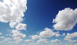 Big Sky with clouds Stock Image