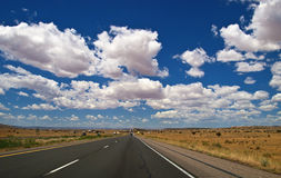 Big Sky Clouds view from a Highway Stock Image