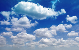 Big Sky Country. Layers of big fluffy clouds on a sunny day Royalty Free Stock Image
