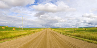 Big Sky Country Road Panorama Royalty Free Stock Images