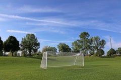 Big Sky Empty Football Pitch Royalty Free Stock Photo