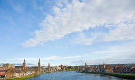 Big sky over Inverness: Highland capital. Royalty Free Stock Image