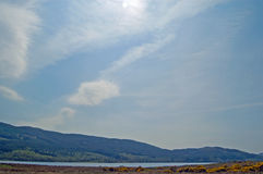 Big sky over the loch Stock Photography