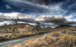 Big Sky Railroad Royalty Free Stock Images