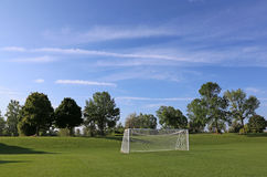 Big Sky Soccer Field Royalty Free Stock Photo
