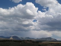 Big Sky. A big sky spreads over the Rocky Mountains in Colorado Royalty Free Stock Photo