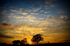 Big Sky at Sunset Royalty Free Stock Photography