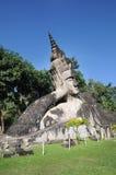Big sleep buddhist at Buddha park,Wat xiengkuane, Vientiane, Laos. Wat xiengkuane The Buddha park, Vientiane, Laos stock photos