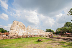 Big sleeping buddha at wat Lokaya Suttharam in Ayuthaya. Stock Photography