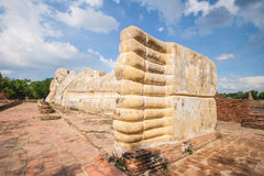 Big sleeping buddha at wat Lokaya Suttharam in Thailand. Stock Photography