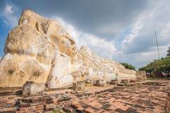 Big sleeping buddha at wat Lokaya Suttharam in Thailand. Royalty Free Stock Images