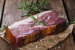 Big slice of smoked Ham Royalty Free Stock Image