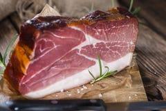 Big slice of smoked Ham Stock Photography