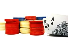 Big slick 2. Big slick - an opening hand at texas hold em poker stock image