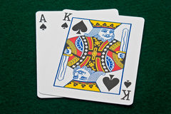 Big Slick Ace and King of Spades Royalty Free Stock Images
