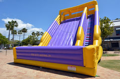 Big Slide Bouncy Castle Stock Photo
