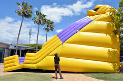 Big Slide Bouncy Castle Royalty Free Stock Image