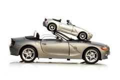 Big And Small. Transportation - Automobiles - big and small sport cars isolated on white background Stock Images