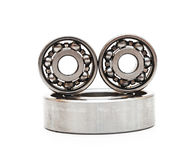 Big and small ball bearings Stock Images