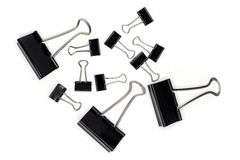 Big and Small Binder Clips. Stock Photos