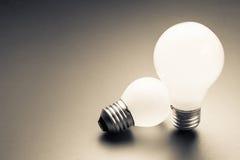 Big and Small Bulbs Royalty Free Stock Image